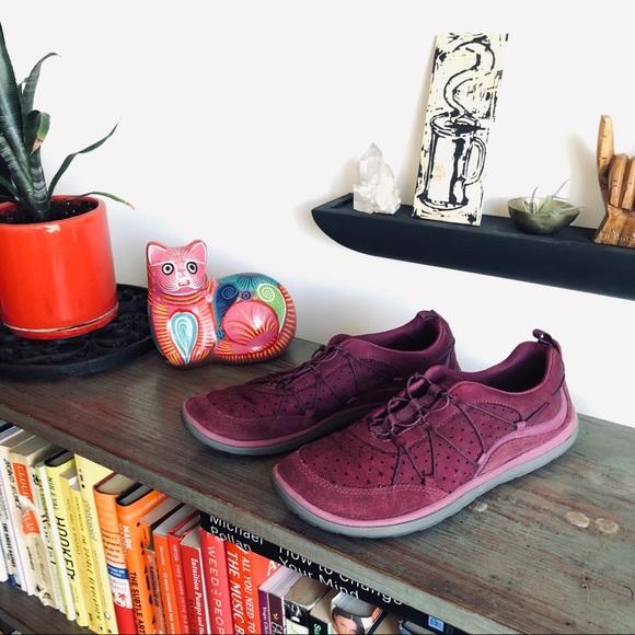 9b558d43c8 Clarks Shoes | Provo Aria Flyer Leather Tennis Shoe | Poshmark